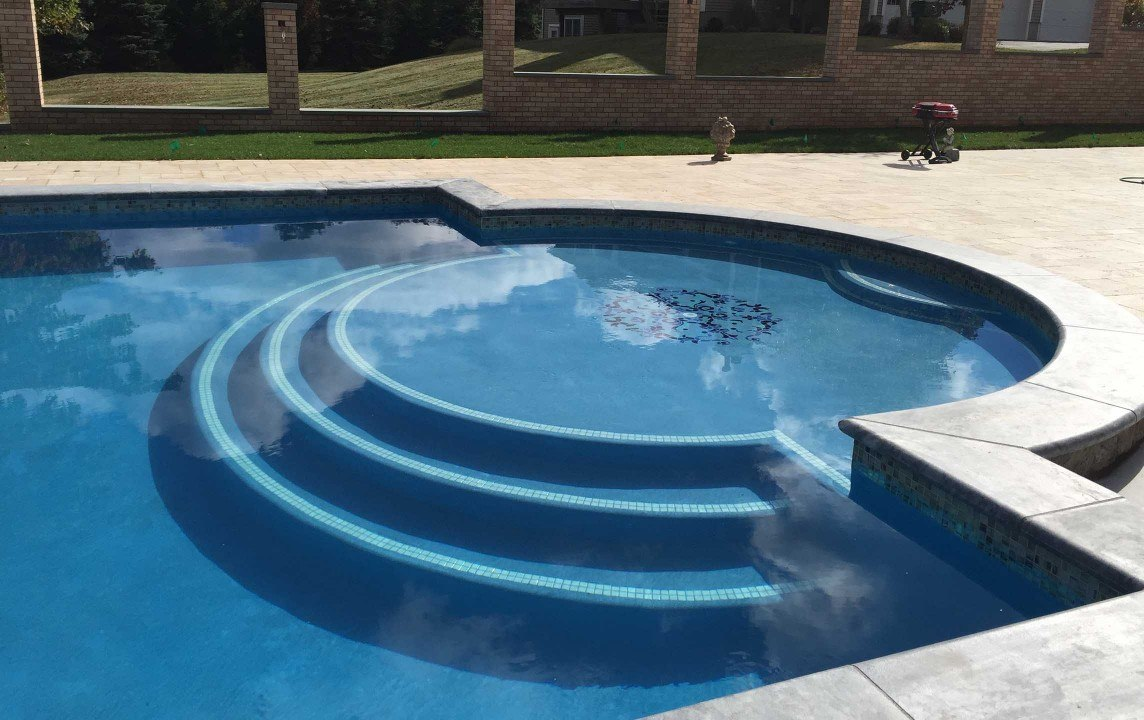 Roman style pool in hopewell junction neave group for Roman style pool design