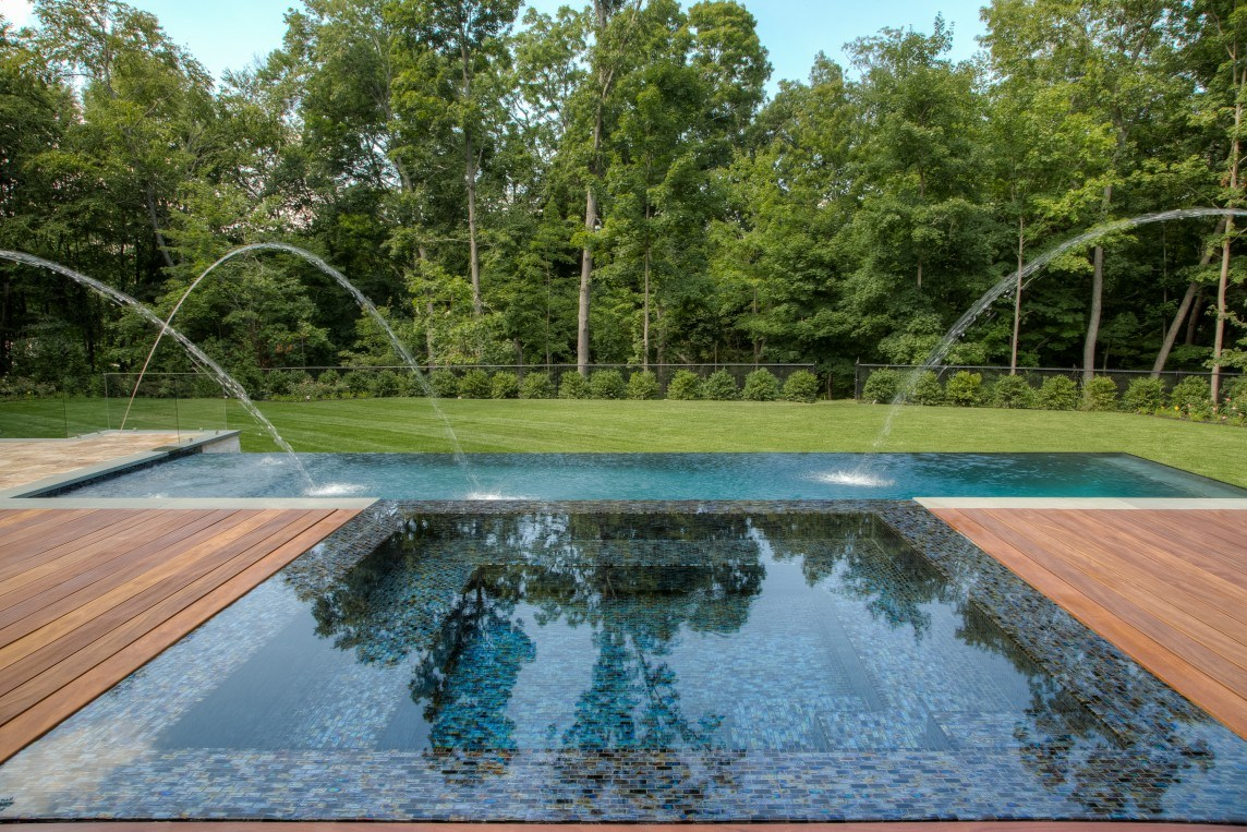 Infinity Edge Pool And Outdoor Living Space Neave Group
