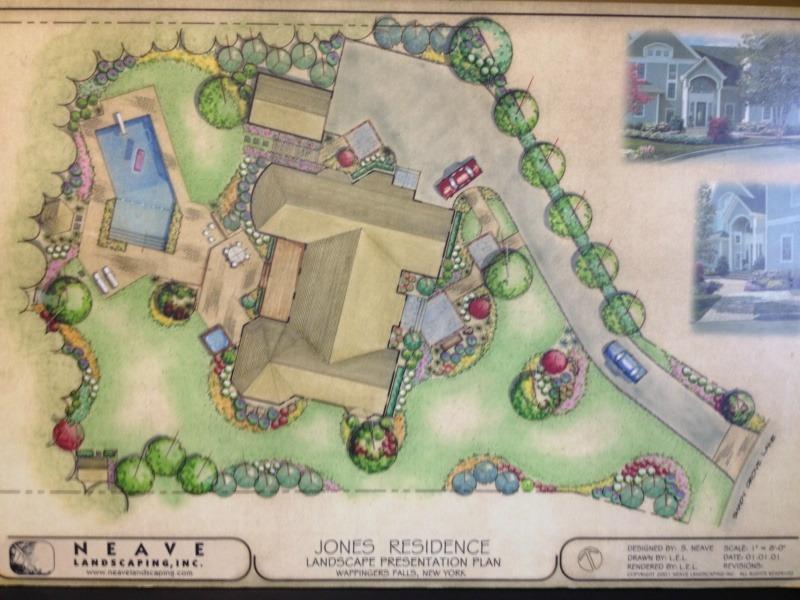landscape design plan drawn by Neave
