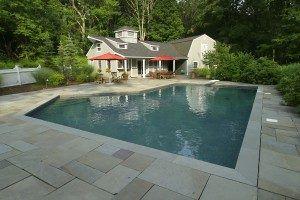 beautiful gunite pool built by neave pools