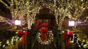 Christmas ribbon garlands