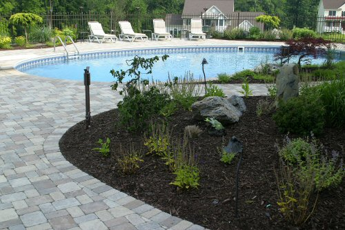 concrete pavers pool deck