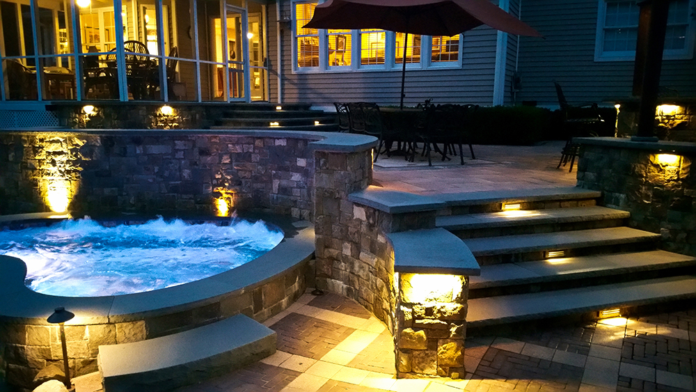 where to best position landscape lighting