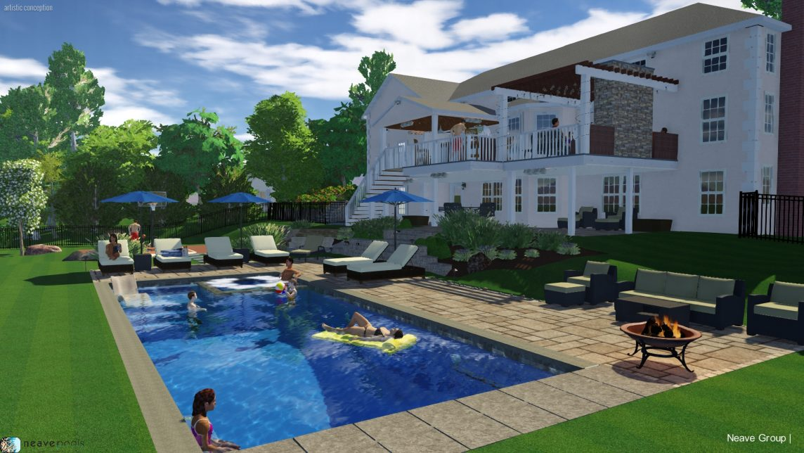 3D rendering of new pool design