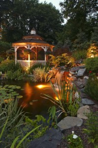 Pergola and Pond Lighting