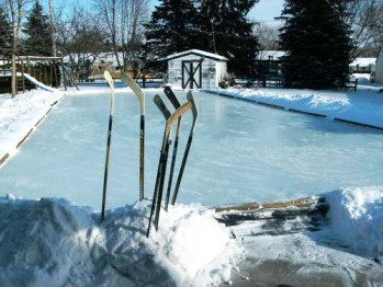 outdoor game court ice rink