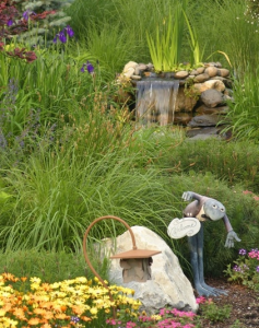 landscaping will make outdoor water features look more natural